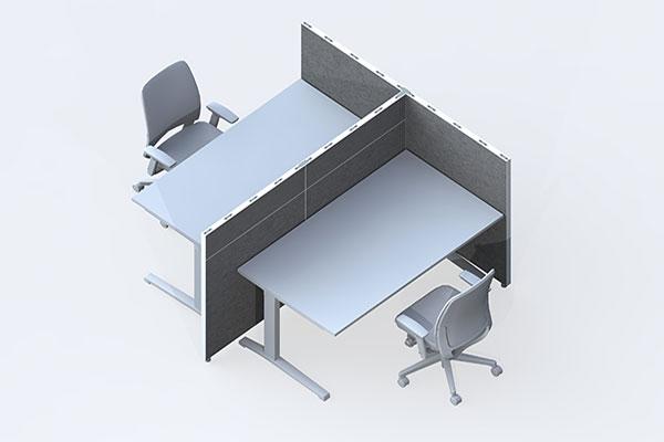 Trennwand buero schallschutz schreibtisch leitex for Schreibtisch trennwand
