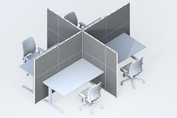 trennwand buero schallschutz schreibtisch3 leitex. Black Bedroom Furniture Sets. Home Design Ideas